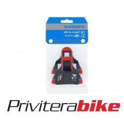 Tacchette Pedali Shimano SPD-SL SH10 Rosso 0°